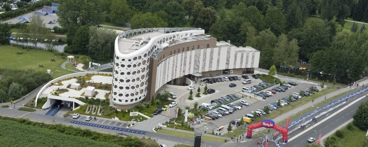 vaizdas iš viršaus į architektūra